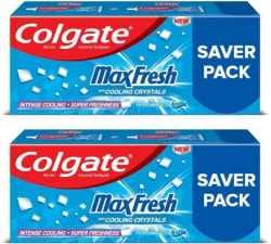 Colgate MaxFresh Anticavity Gel, Peppermint Ice Toothpaste 600 g, Pack of 2