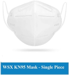WSX KN95 Anti Pollution Activate Virus Protection N-95 Mask Filters Bacteria-(Pack of 1)