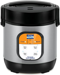 Kent 16019 Personal Electric Rice Cooker 0.9 L, Black, Grey