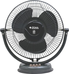 Zigma TIKTIK Quiet Portable 300 mm Ultra High Speed 3 Blade Table Fan Black, Pack of 1