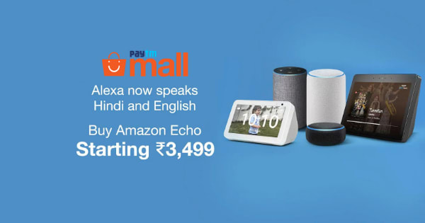 Starting Rs.3,499 Alex Speakers Amazon ECHO SHOW | Now Speaks Hindi and English