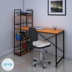 @home by Nilkamal Dalton Engineered Wood Study Table Free Standing, Finish Color - Walnut