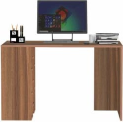 Klaxon Engineered Wood Study Table Free Standing, Finish Color - Asian Walnut