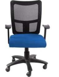 SEAT CHACHA Fabric Office Arm Chair Blue