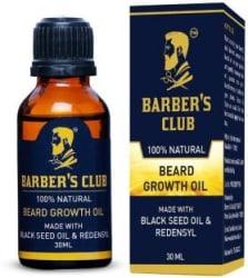 Barber s Club Beard Growth Oil with Black Seed Oil (100% Organic & Natural) -30ml Hair Oil 30 ml