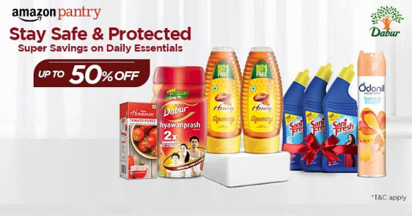 Up to 50% off on Daily Essentials