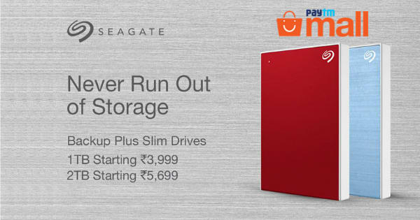 Starting Rs. 5,699 External Hard Disks