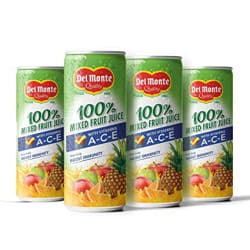 Del Monte ACE - 100% Mixed Fruit Juice with Vitamins A-C-E That Helps Boost Immunity, 4 x 240 ml