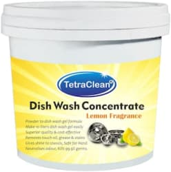 Tetraclean Superior Quality Dish Wash Concentrate Powder for Formulation of 10 L Dish Wash Gel in Lemon Fragrance 500g
