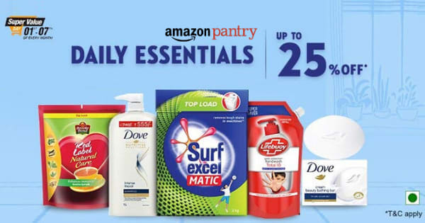 Up to 25% off on Daily Essentials