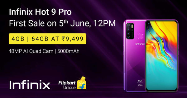 Starting Rs 9,499 Infinix Hot 9 pro
