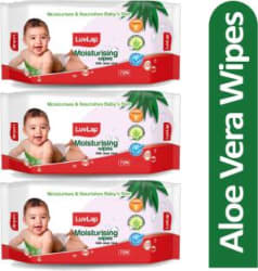 LuvLap Baby Moisturising Wipes with Aloe Vera, 72 Wipes/pack 3 Wipes