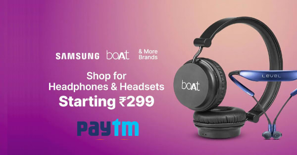 Starting Rs.299 Headphones & Headsets