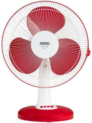 Usha Mist Air Icy 400 mm 3 Blade Table Fan Red, Pack of 1