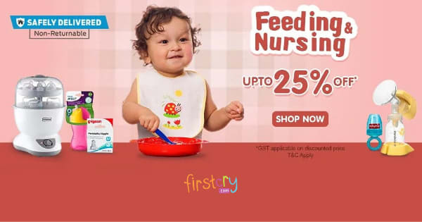 Up to 25% off on Baby Feeding & Nursing Products
