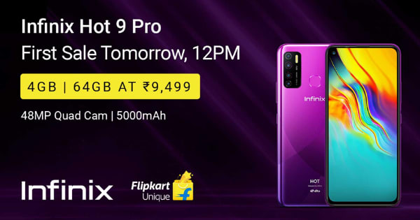Starting Rs.9,499 Infinix Hot 9 Pro