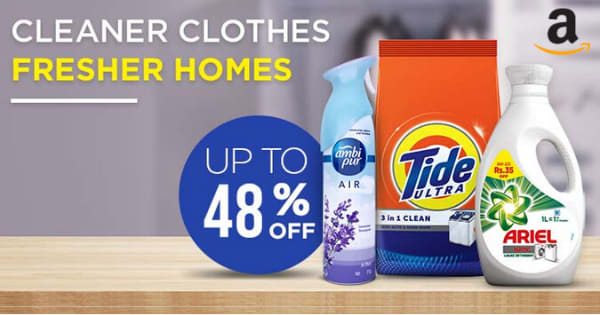 Up to 48% off on Household Supplies