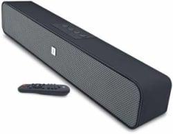 iball Musi Base High Power Compact Soundbar 10 W Bluetooth Soundbar Black, Stereo Channel