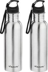 Butterfly Eco SS 750 ml Bottle Pack of 2, Silver, Steel