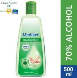 Mediker Alcohol Based Instantly Kills 99.9% Germs Without Water Hand Sanitizer Bottle 500 ml