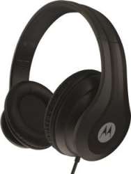 Motorola HP-Moto-Pulse 110 with Google Assistant Wired Headset(Black, Wired over the head)