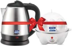 Kent 16056 & 16053 Electric Kettle 1.2 L, Black, White