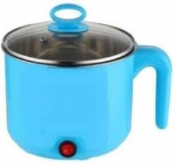 fab Electric Multifunction Cooking Pot 1.5 Litre Multi-Purpose Cooker Rice Cooker, Food Steamer, Egg Roll Maker, Travel Cooker, Slow Cooker, Egg Cooker, Egg Boiler 1.5 L, Blue