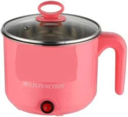 Skyline Stainless Steel Electric Cooker with Rice Cooker Soup Egg Cooker, Egg Boiler, Rice Cooker 1.5 L, Pink
