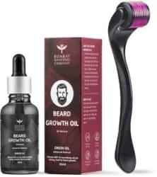 Bombay Shaving Company Beardinator Basics, Beard Growth Kit with 0.5mm, 540 titanium needle Beard Activator and Onion Beard Growth Oil (30ml) 2 Items in the set