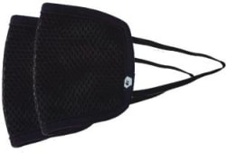 Fort Collins Reusable Outdoor Protection Mask 101 Black, Free Size, Pack of 2