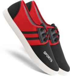 Chevit 168 Smart Red Lace-Ups Casuals for Men Sneakers For Men Red