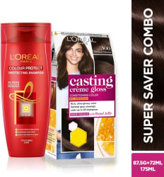 L Oreal Paris Casting Creme Gloss (Darkest Brown 300) Hair Color and Shampoo 2 Items in the set