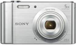 Sony CyberShot DSC-W800/SC IN5 20.1 MP, 5 Optical Zoom, 13x Digital Zoom, Silver