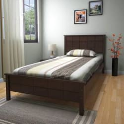 @home by Nilkamal Cipher Solid Wood Single Bed Finish Color - Espresso