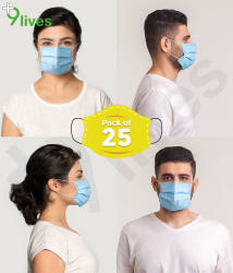 9lives 3 Ply Surgical Face Mask - Pack of 25