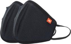 Wildcraft HypaShield Supermask reusable outdoor protection mask 12540_Black_L Black, L, Pack of 2
