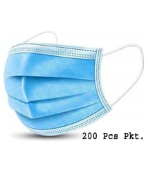 bq BLAQUE ,With Nose Pin 3 Ply Face Mask - 200 Pcs