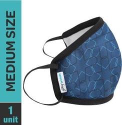 Godrej Protekt P-W95 Reusable Face Mask Large Navy Cloth Mask Blue, Free Size, Pack of 1