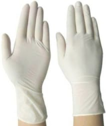 SOBERBIO Disposable Examination Latex Medical Hand Gloves Large Size Latex Examination Gloves Pack of 100