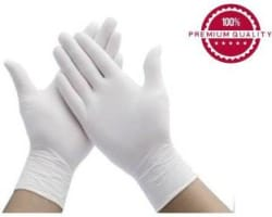BUWCH WHITE-GLV-50 Latex Surgical Gloves Pack of 50
