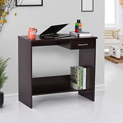 Keon Furniture Engineering Wood Office Table and Study Desk Tables for Library Home (Dark Wenge, Matte Finish)