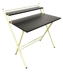 Amey Folding Office/Study Table in Ivory Wenge Colour