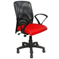 Earthwood - Revolving Office Workstation Net Back Chair Red
