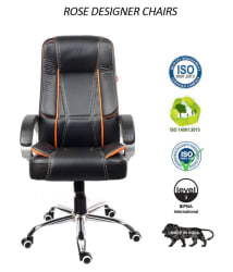 Rose Designer SpaceX High Back Premium Office Chair ( Black & Orange) - Buy Rose Designer SpaceX High Back Premium Office Chair ( Black & Orange) Online at Best Prices in India on Snapdeal