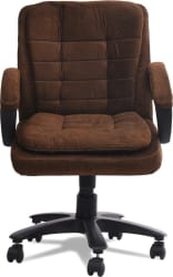 DZYN Furnitures Fabric Office Conference Chair(Brown)