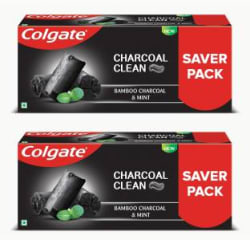 Colgate Charcoal Clean ,Bamboo Charcoal and Mint (Black Gel) Toothpaste 480 g, Pack of 2