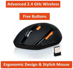 ABRONIX ABX1 Wireless Mouse ( Black )