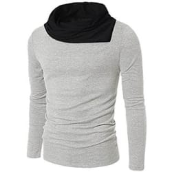 Pause Casual Plain Round Neck Full sleeve T-shirt for Men