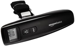 AmazonBasics Portable Digital Handheld Luggage Scale with Digital Display, 50kg