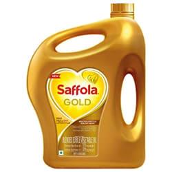 Saffola Gold, Pro Healthy Lifestyle Edible Oil Jar 5 L